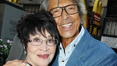 Two stage legends unite! Chita Rivera and Tommy Tune embrace.