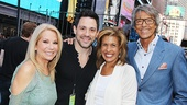 Kathie Lee Gifford, Onces Steve Kazee, Hoda Kotb and Tommy Tune flash smiles backstage at Broadway on Broadway.
