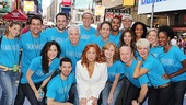 The heavenly cast of Scandalous surrounds star Carolee Carmello.