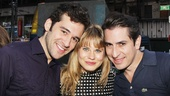 Peter and the Starcatcher faves Adam Chanler-Berat, Celia Keenan-Bolger and Matthew Saldivar bump heads.