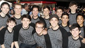 The dashing young men of Newsies welcome their new star Corey Cott.