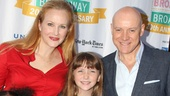 Katie Finneran and Anthony Warlow introduce three of the young orphans from Annie: Tyrah Skye Odoms, Emily Rosenfeld and Jaidyn Young.