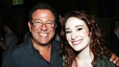 Rent director Michael Greif is all smiles with his closing night Maureen, actress Emma Hunton. 