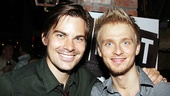 Roger times two: Original off-Broadway star Matt Shingledecker poses with Anthony Federov. 