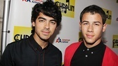 Joe Jonas and his Broadway vet brother Nick have a guys night out at Chaplin.