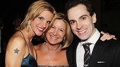 Lead Chaplin producer Mindy Rich (c.) comes in close for a photo with Chaplin stars Jenn Colella and Rob McClure.