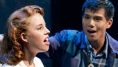 Allie Trimm as Hannah Campbell and Telly Leung as Sammy Kimura in Allegiance.