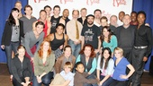 The full company of Broadway's Kinky Boots meets the press before packing their bags  and heading to Chicago for the show's world premiere run at the Bank of America Theatre in October.