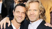 Broadway favorite Raul Esparza congratulates William H. Macy on Atlantics big night.
