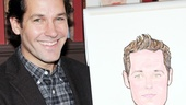 Broadway vet Paul Rudd flashes a winning smile next to his new Sardi's portrait.