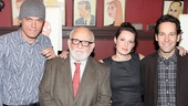 Say cheese! Michael Shannon, Ed Asner, Kate Arrington and Paul Rudd take a company photo at the iconic restaurant.