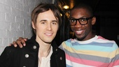 Real-life rocker Reeve Carney grabs a quick photo with Dominique Johnson, who plays wannabe rapper Cameron.