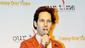 Paul Rudd welcomes guests to a bowling benefit for Our Time, which works with children who stutter.
