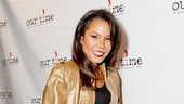 Broadway favorite Daphne Rubin-Vega grabs a bowling ball for a good cause.