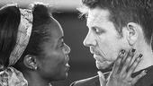Heather Headley and Lloyd Owen in rehearsal for The Bodyguard.