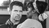 Lloyd Owen and Heather Headley in rehearsal for The Bodyguard.