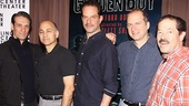 Dont mess with these tough guys! Anthony Crivello, Ned Eisenberg, Danny Mastrogiorgio, Daniel Jenkins and Jonathan Hadary make up the supporting cast of gansters and boxers in Broadways Golden Boy.