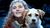 Lilla Crawford as Annie and Sunny as Sandy in Annie.