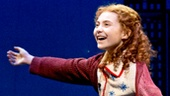 Anthony Warlow as Oliver Warbucks and Lilla Crawford as Annie in Annie.