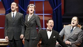 Jeremy Davis as Hull, Anthony Warlow as Oliver Warbucks, Lilla Crawford as Annie, Dennis Stowe as Morganthau, Jane Blass as Perkins, Gavin Lodge as Ickes, Merwin Foard as F.D.R. and Kevin Quillon as Howe in Annie.