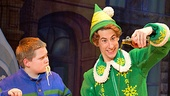 Connor Barth as Michael and Matt Kopec as Buddy in the national tour of Elf.