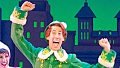 Matt Kopec as Buddy and the cast of the national tour of Elf.