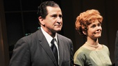 Anthony LaPaglia and Kathryn Erbe take their opening night bow as Richard and Pat Nixon in Checkers.