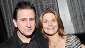 Charismatic co-stars Anthony LaPaglia and Kathryn Erbe enter their opening night celebration. 