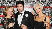 Stars Amy Spanger, Billy Ray Cyrus and Amra-Faye Wright toast to their favorite Broadway show's sweet 16.