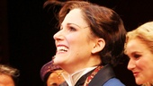 Always gracious, Stephanie J. Block takes her opening night bow.