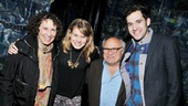 Rhea Perlman and Danny DeVito congratulate Peter and the Starcatcher headliners Celia Keenan-Bolger and Adam Chanler-Berat.