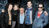 Matthew Saldivar dons shades (and loses his Black Stache) for a photo with Rhea Perlman, Celia Keenan-Bolger, Danny DeVito and Adam Chanler-Berat.