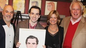 Chaplin producers Roy Gabay, Mindy Rich and Bob Rich strike a pose with McClure and the new drawing.