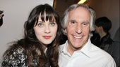 The Performers  opening night  Zooey Deschanel  Henry Winkler 