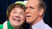 Jordan Gelber as Buddy and Mark Jacoby as Walter in Elf.