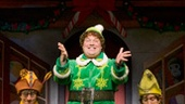 Jordan Gelber as Buddy and the company of Elf.