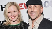 Director Scott Elliott and his leading lady, Gretchen Mol, are all smiles on opening night.