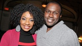 Cotton Club headliners Adriane Lenox and Joshua Henry flash a pair of winning smiles.