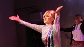 Kirsten Holly Smith basks in the applause after her opening performance as Dusty Springfield in Forever Dusty.