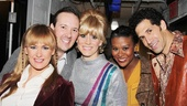 Forever Dusty castmates Coleen Sexton, Sean Patrick Hopkins, Kirsten Holly Smith, Christina Sajous and Benim Foster come together for a backstage shot.