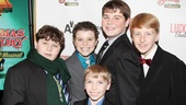 'A Christmas Story' Opening Night — Jeremy Shinder — J.D. Rodriguez — Luke Spring — Jack Mastrianni — George Franklin