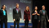 It's a happy curtain call for NEWSical newcomer Andrea McArdle (c.), who joins Susan Mosher, Michael West, Christine Pedi and Tommy Walker.