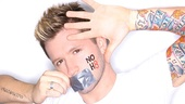 Bare choreographer Travis Wall poses for his very own NOH8 portrait.