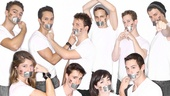 The cast of Bare joins the fight for equality with Adam Bouskas NOH8 Campaign. Clockwise from left: Michael Tacconi, Justin Gregory Lopez, Gerard Canonico, Taylor Trensch, Alex Wyse, Jason Hite, Casey Garvin, Barrett Wilbert Weed, Anthony Festa and Megan Lewis.