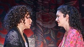 Michelle Alves as Anita and MaryJoanna Grisso as Maria in the national tour of West Side Story.