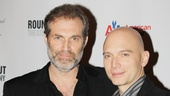Marc Kudisch grabs a photo op with co-star Michael Cerveris.