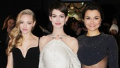 Amanda Seyfried, Anne Hathaway and Samantha Barks (Eponine, wearing Stella McCartney) rock the red carpet.
