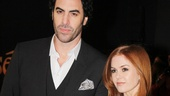 Les Miserables London premiere  Sacha Baron Cohen  Isla Fisher