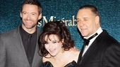 Les Miserables London premiere  Hugh Jackman  Helena Bonham Carter  Russell Crowe