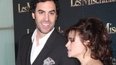 Les Miserables London premiere  Sacha Baron Cohen  Helena Bonham Carter